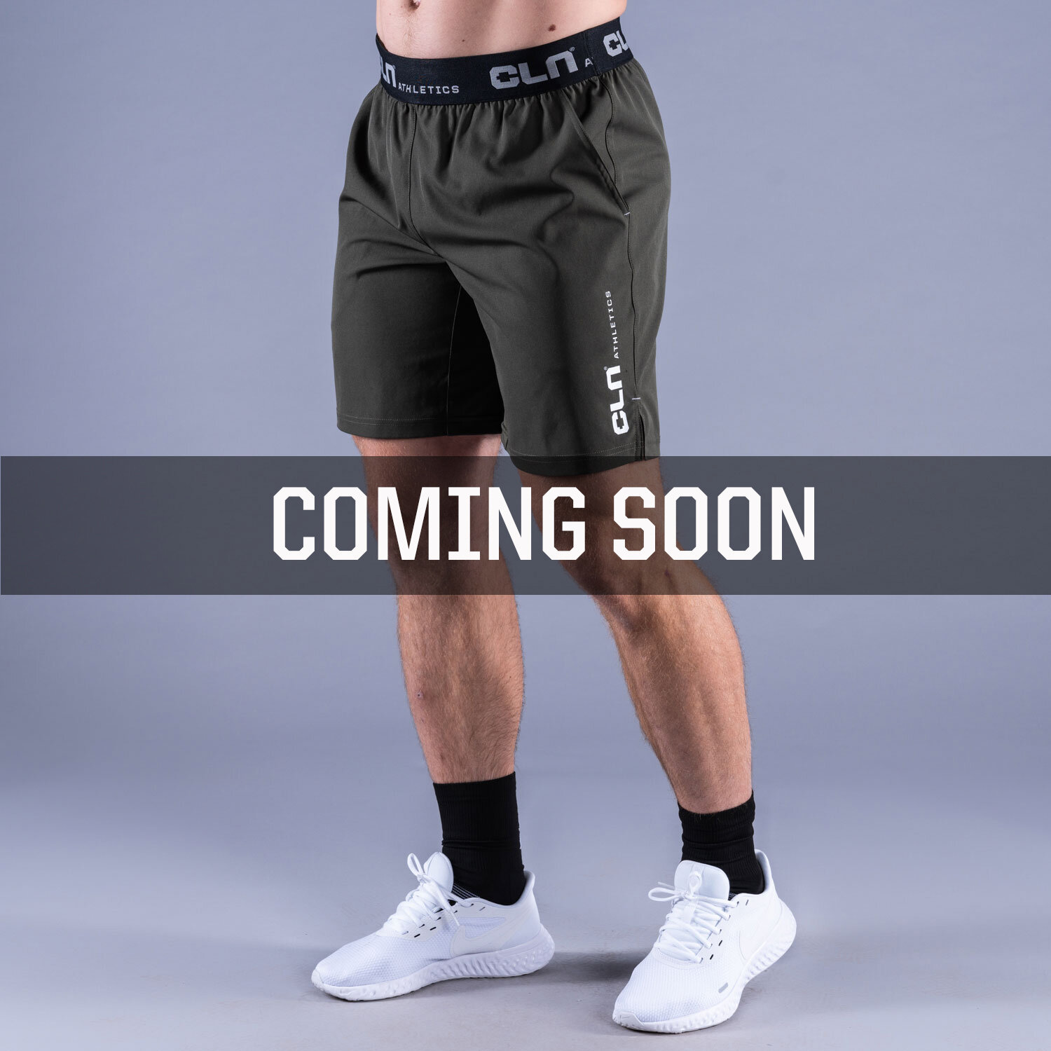 CLN Dino stretch shorts Forest green