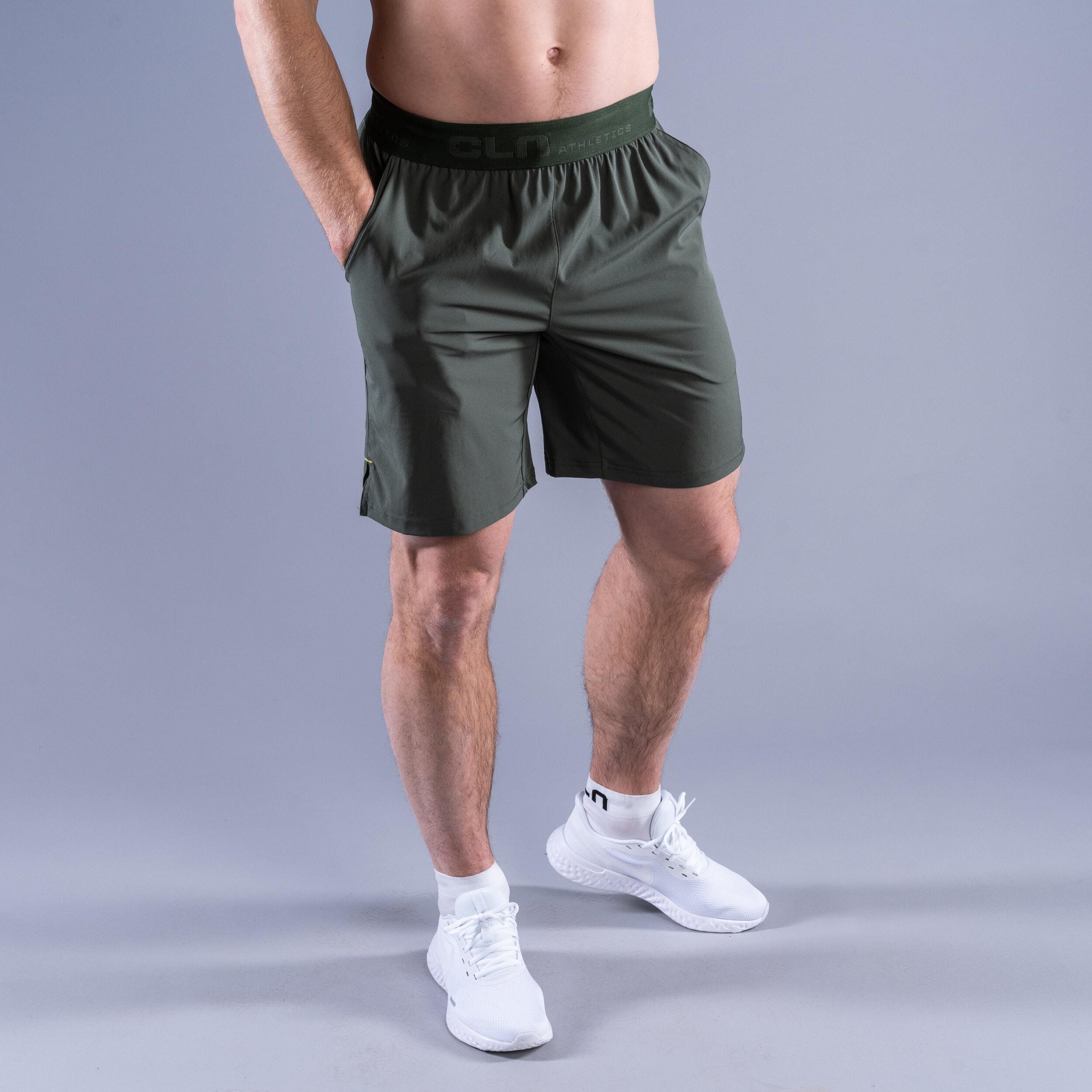 CLN Dino Stretch shorts Moss green