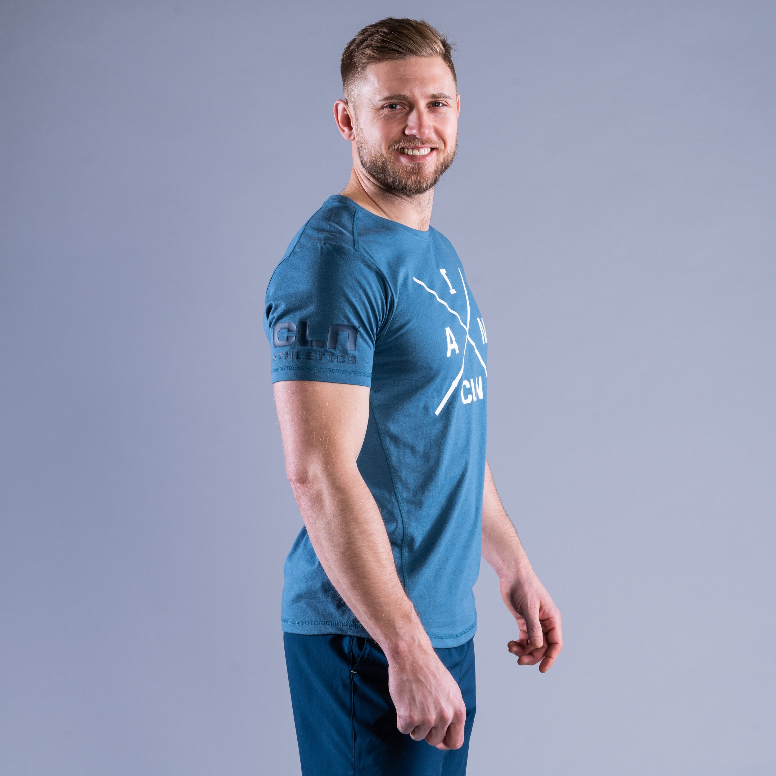 CLN Instructor t-shirt Ocean blue