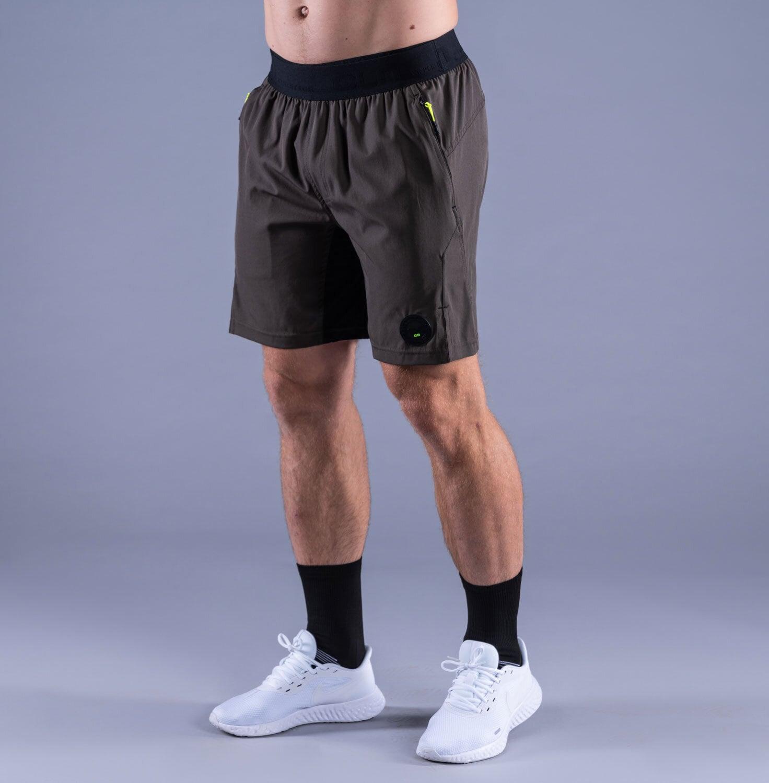 CLN Energy stretch shorts Black olive