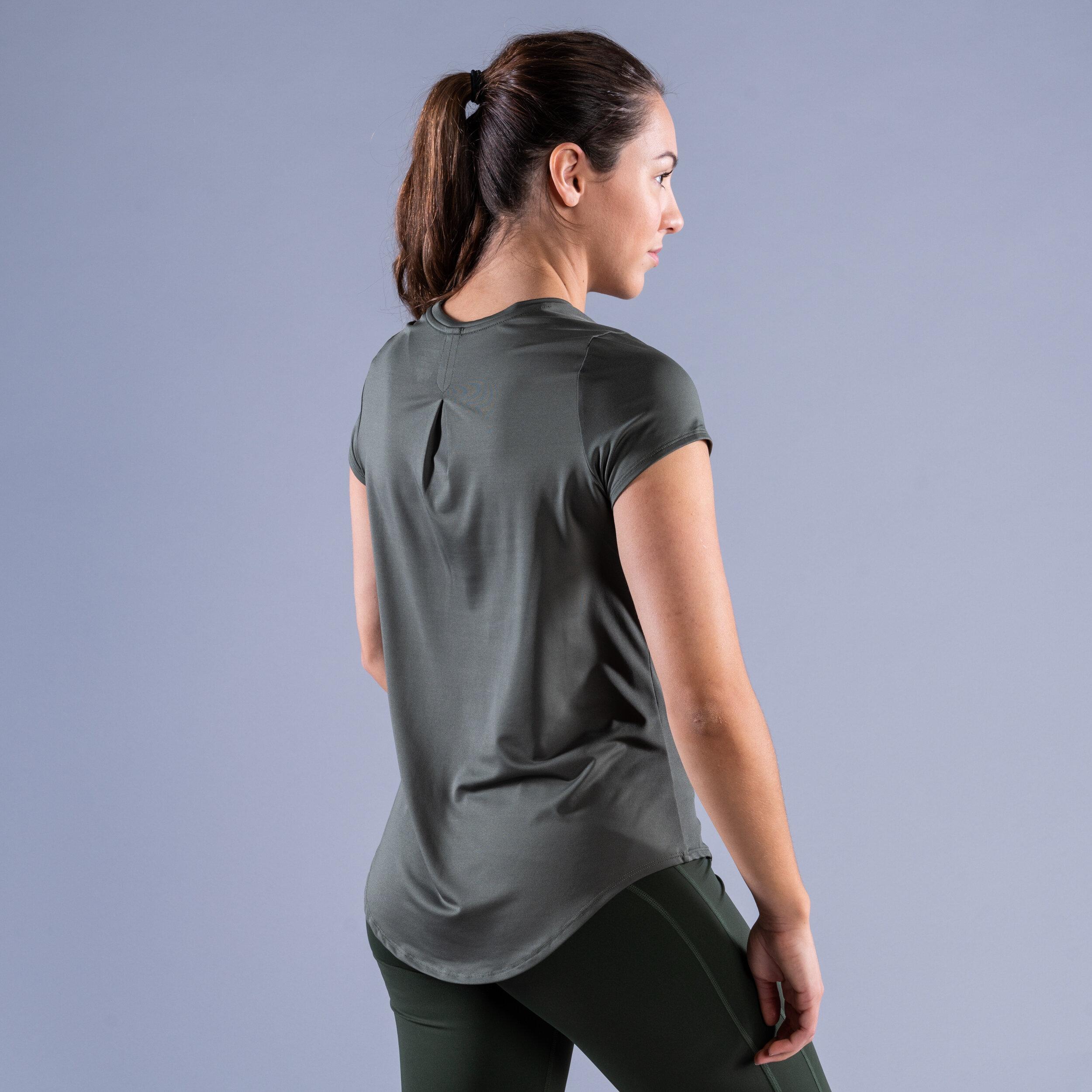 CLN Mel ws t-shirt Moss green