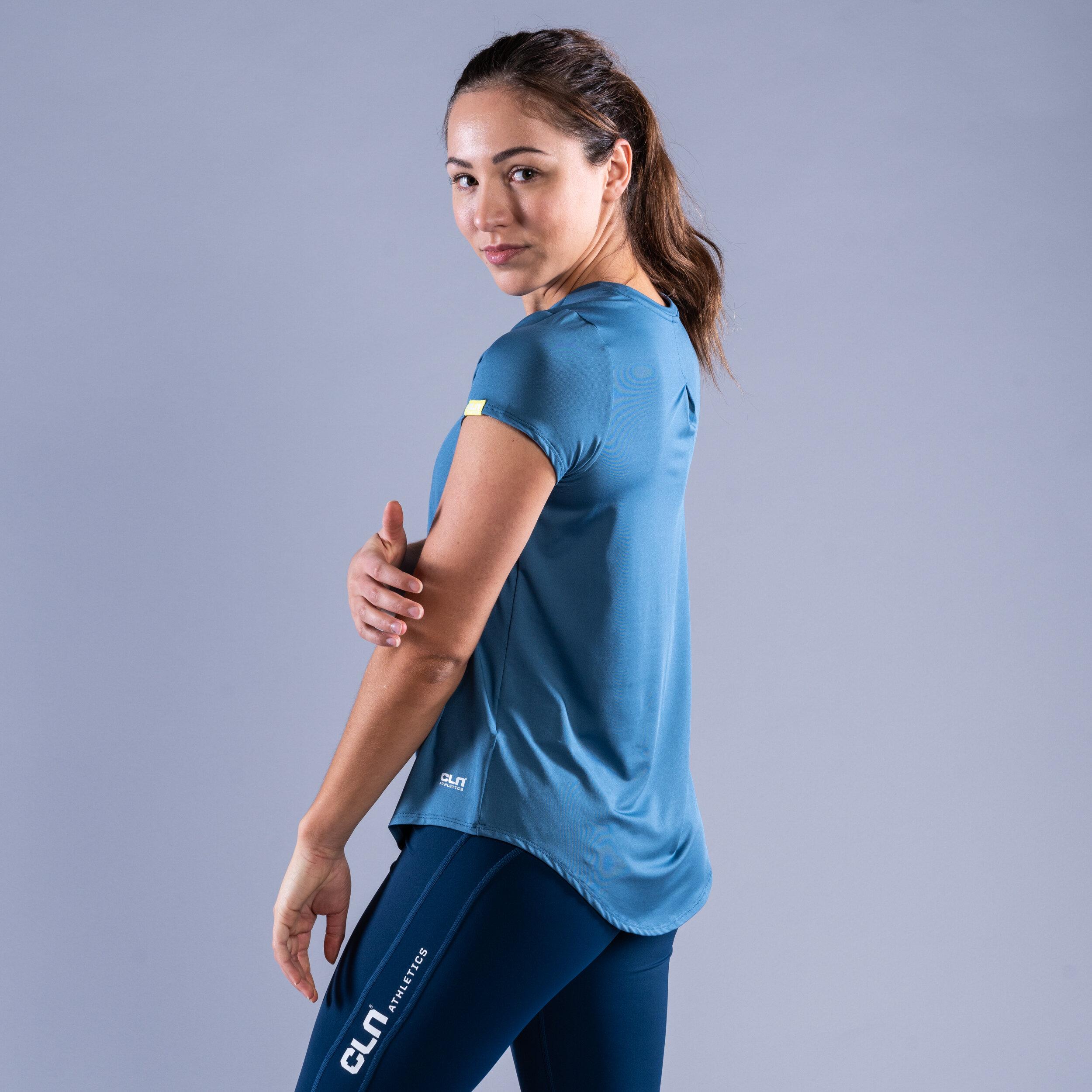 CLN Mel ws t-shirt Ocean blue
