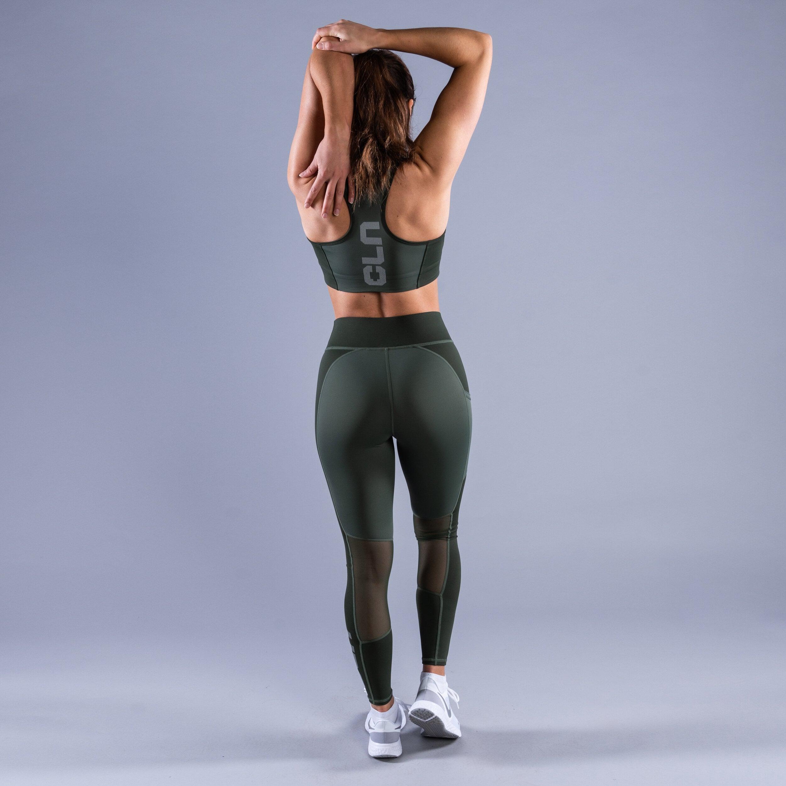 Package Freedom tights - Intense sport bra Green