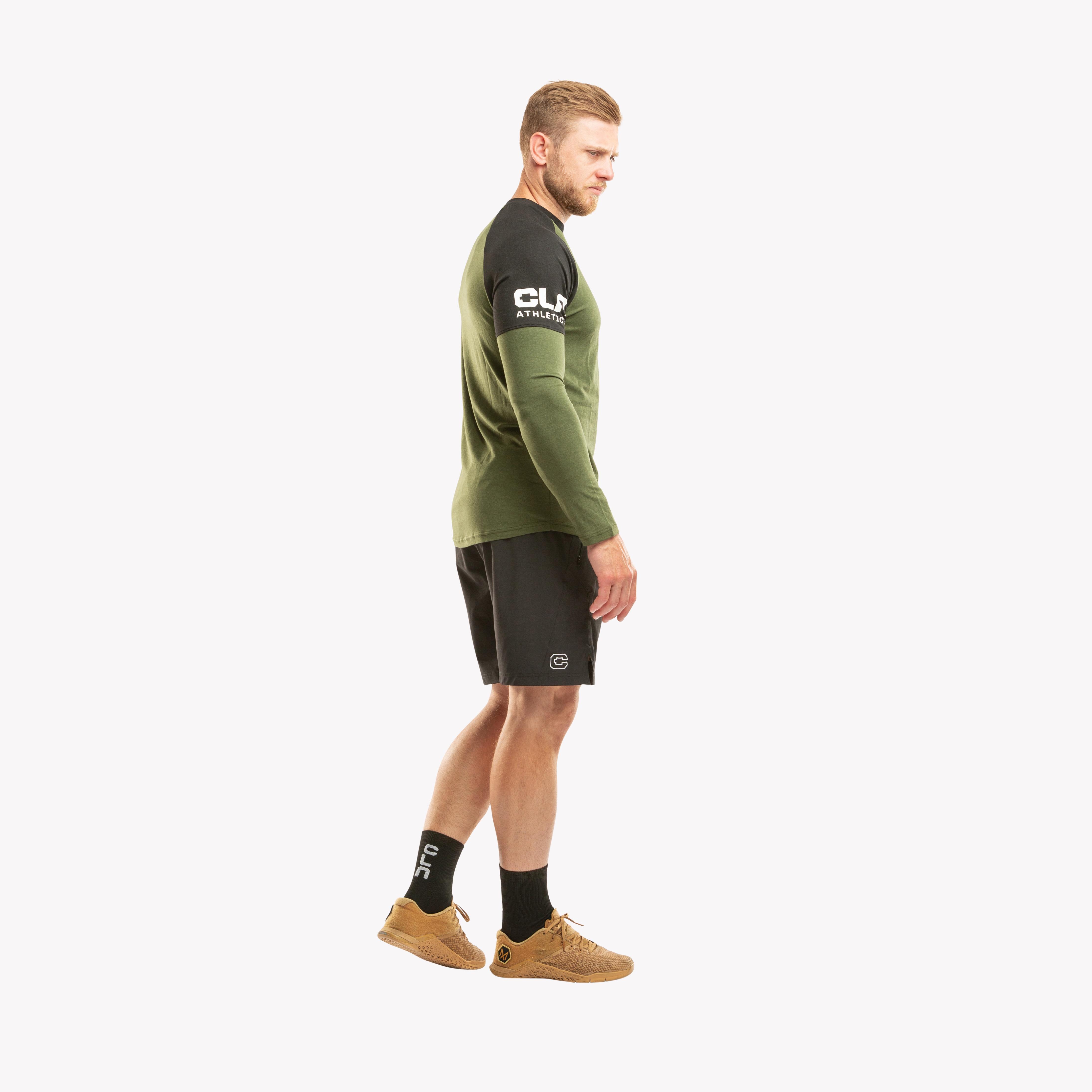 CLN Yoke Bamboo shirt Forrest green